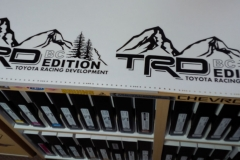 TRD TOYOTA box decals